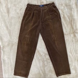 Men's Polo by Ralph Lauren Brown Corduroy Trousers